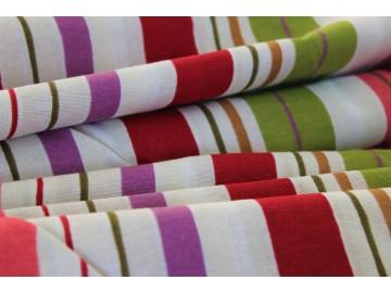 Tkanina zasłonowa bawełniana pasy kolorowe